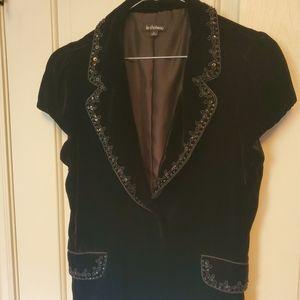 NWOT Immaculate soft silk velvet cropped jacket
